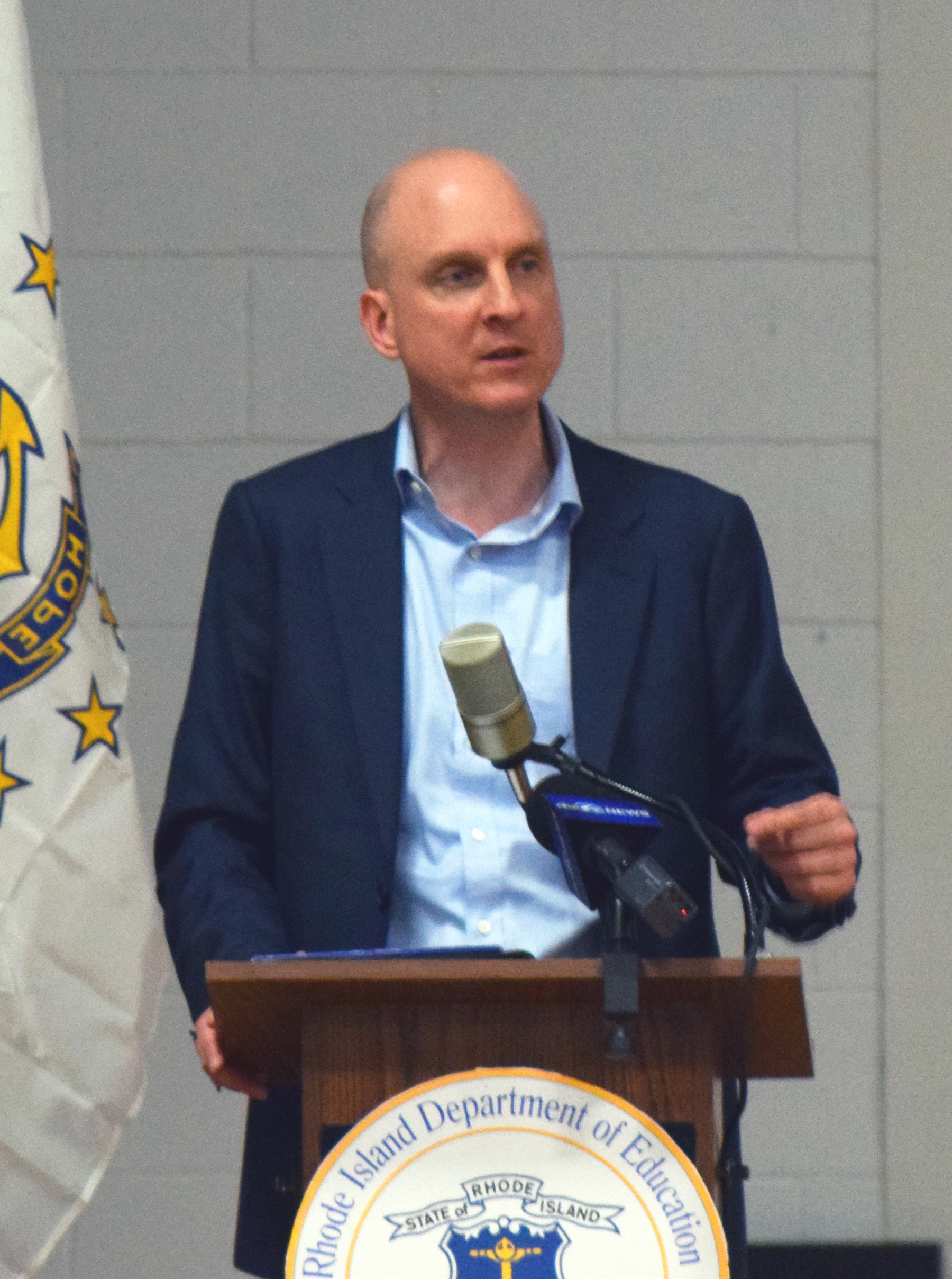 Rhode island department of education home commissioner wagner falaconquin