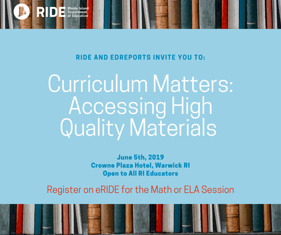 Curriculum Matters - Register to attend workshop on June 5