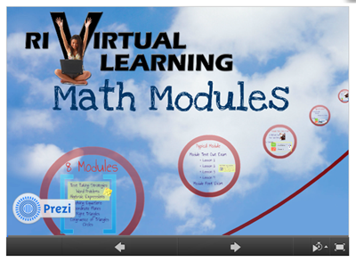Virtual Learning Math Modules presentation