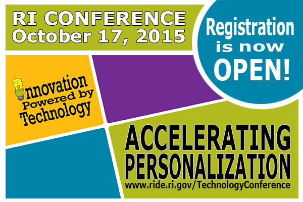 RI Conference, Accelerating Personalization, October 17, 2015 - registration is open
