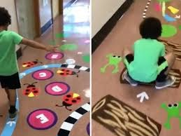 Example of a sensory motor path in an elementary school