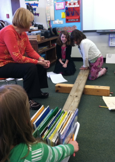 Students demonstrate balancing