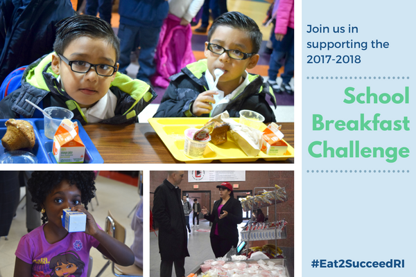 Join us in supporting the 2017-18 School Breakfast Challenge, #Eat2SucceedRI - visit our webpage