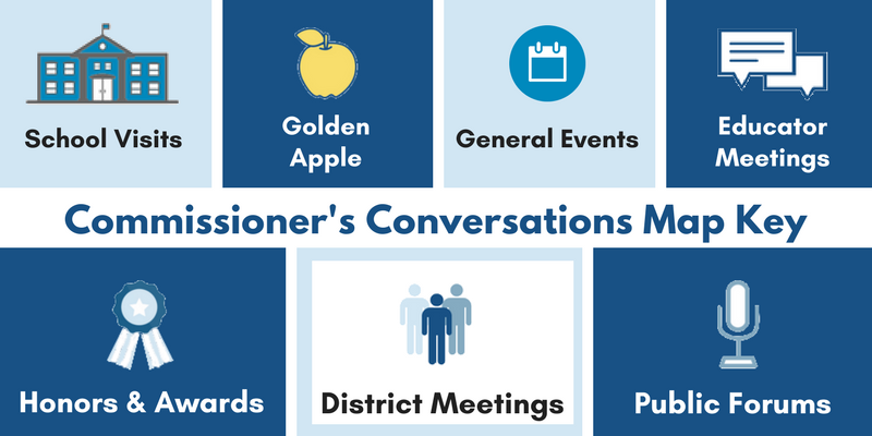 Commissioner's Conversations map key