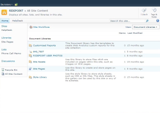 SharePoint screenshot